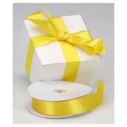 "1 3/8"" x 100 yds. Dyna Satin Ribbon, Yellow"