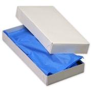 """Kraft Paper 1.5""""H x 5.5""""W x 11.5""""L 2-Piece Apparel Boxes, White, 100/Pack"""