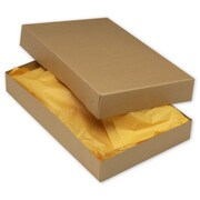 "Kraft Paper 2.5""H x 11""W x 17""L 2-Piece Apparel Boxes, Brown, 50/Pack"