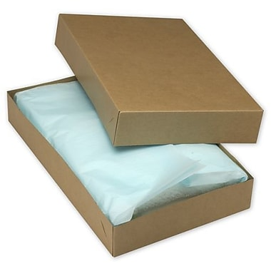 19in. x 12in. x 3in. Two-Piece Apparel Boxes, Kraft