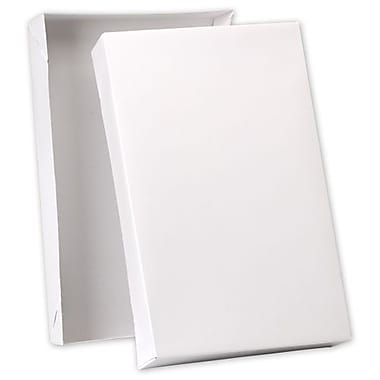 19in. x 12in. x 3in. Premium Two-Piece Apparel Boxes, White