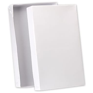 24in. x 14in. x 4in. Premium Two-Piece Apparel Boxes, White