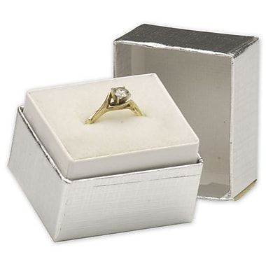 1 1/2in. x 1 1/4in. x 1 1/2in. Jewelry Boxes, Silver Linen