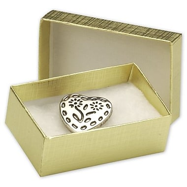 2 1/2in. x 1 1/2in. x 7/8in. Linen Jewelry Boxes, Gold