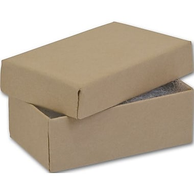 2 1/2in. x 1 1/2in. x 7/8in. Kraft Jewelry Boxes, Natural