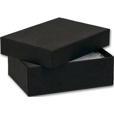 3in. x 2 1/8in. x 1in. Kraft Jewelry Boxes, Black