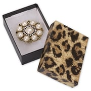 3 x 2 1/8 x 1 Leopard Jewelry Boxes, Black/Brown