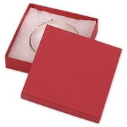 "Cardboard 0.88""H x 3.5""W x 3.5""L Jewelry Boxes, Red, 100/Pack"