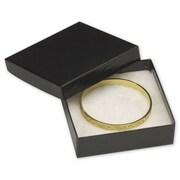 """Cardboard 1""""H x 3.5""""W x 3.5""""L Krome Jewelry Boxes, Gloss Black, 100/Pack"""