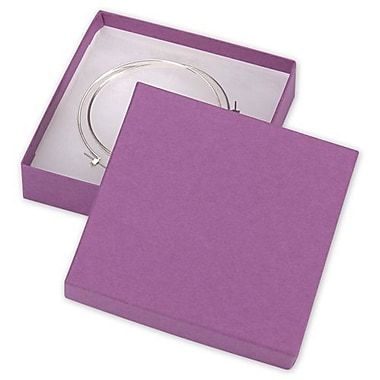 3 1/2in. x 3 1/2in. x 7/8in. Kraft Jewelry Boxes, Purple