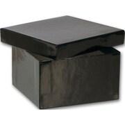 "3 1/2"" x 3 1/2"" x 2"" Jewelry Boxes, Black"