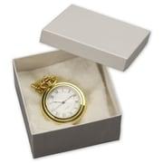 "Cardboard 2""H x 3.5""W x 3.5""L Krome Jewelry Boxes, White, 100/Pack"