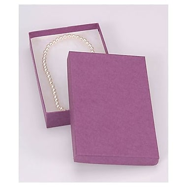 5 7/16in. x 3 1/2in. x 1in. Kraft Jewelry Boxes, Purple