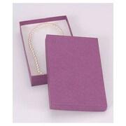 5 7/16 x 3 1/2 x 1 Kraft Jewelry Boxes, Purple