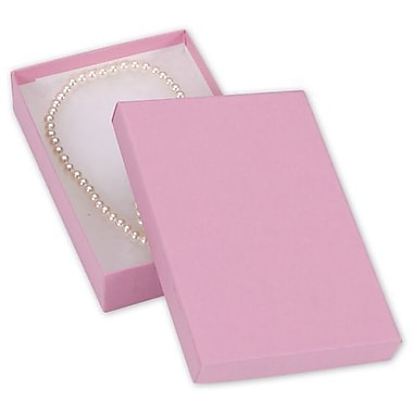 5 7/16in. x 3 1/2in. x 1in. Kraft Jewelry Boxes, Pink
