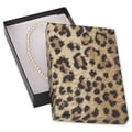 5 7/16in. x 3 1/2in. x 1in. Leopard Jewelry Boxes, Black/Brown