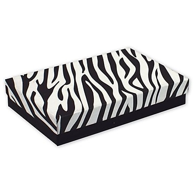 5 7/16in. x 3 1/2in. x 1in. Zebra Jewelry Boxes, Black/White