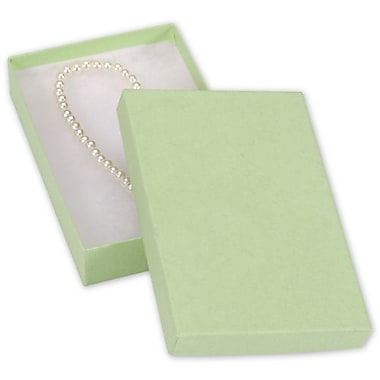 5 7/16in. x 3 1/2in. x 1in. Kraft Jewelry Boxes, Light Green