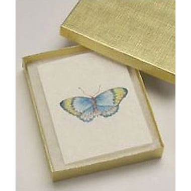 6in. x 5in. x 1in. Linen Jewelry Boxes, Gold