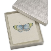 6 x 5 x 1 Linen Jewelry Boxes, Silver