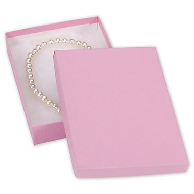 7in. x 5in. x 1 1/4in. Kraft Jewelry Boxes, Pink