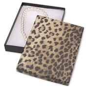 "7"" x 5"" x 7/8"" Leopard Jewelry Boxes, Black/Brown"