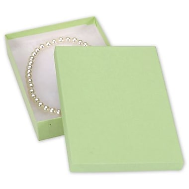 7in. x 5in. x 1 1/4in. Kraft Jewelry Boxes, Light Green