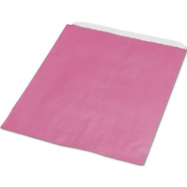 6 1/4in. x 9 1/4in. Paper Merchandise Bags, Hot Pink