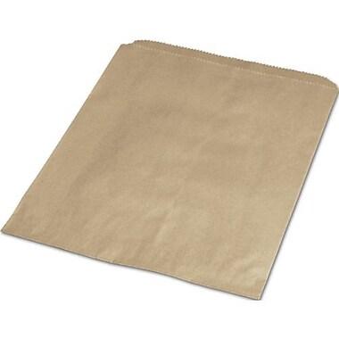 Sacs d'achats en papier, 6 1/4 x 9 1/4 po, papier kraft, 1000/paquet