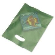 "Polyethylene 12""H x 9""W High Density Merchandise Bags, Hunter Green, 500/Pack"