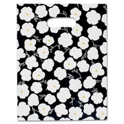 9 x 12 Martine Frosted High Density Merchandise Bags, Black/White