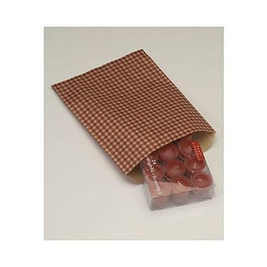 8 1/2in. x 11in. Gingham Paper Merchandise Bags, Red