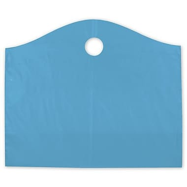 22in. x 8in. x 18in. Frosted Wave Merchandise Bags, Lagoon Blue