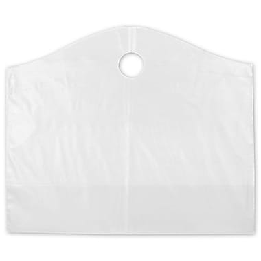 22in. x 8in. x 18in. Frosted Wave Merchandise Bags, Clear