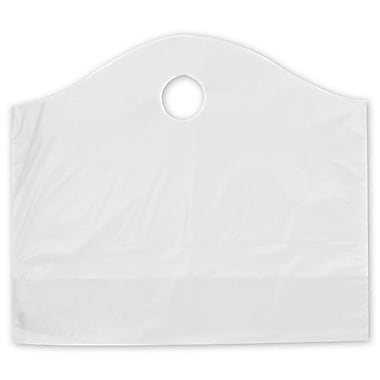 18in. x 6in. x 15in. Frosted Wave Merchandise Bags, Clear