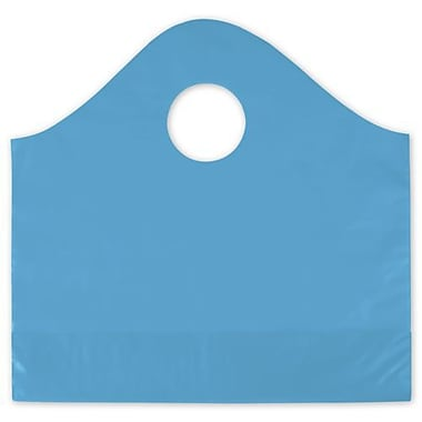 12in. x 4in. x 11in. Frosted Wave Merchandise Bags, Lagoon Blue