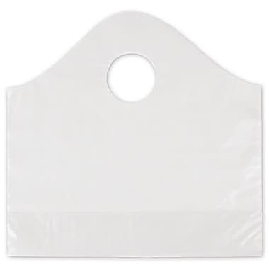 12in. x 4in. x 11in. Frosted Wave Merchandise Bags, Clear
