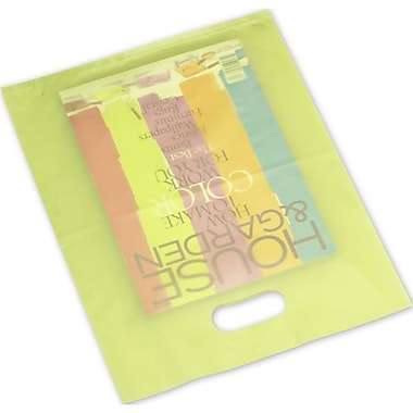 12in. x 15in. Frosted High Density Merchandise Bags, Lime Green