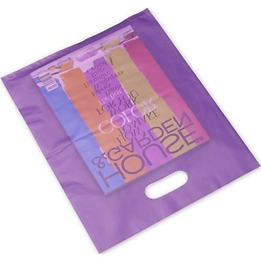 Frosted High Density Merchandise Bags, 12