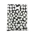 12in. x 15in. Martine Frosted High Density Merchandise Bags, White on Black