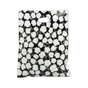 12 x 15 Martine Frosted High Density Merchandise Bags, White on Black