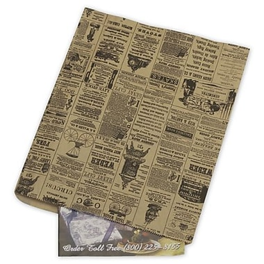 12in. x 15in. Newsprint Merchandise Bags, Black