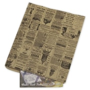 "12"" x 15"" Newsprint Merchandise Bags, Black"