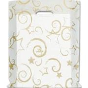 "Polyethylene 15""H x 12""W Stars High Density Merchandise Bags, Gold, 500/Pack"