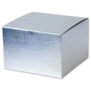 """Board 4""""H x 6""""W x 6""""L Gift Boxes, Silver, 100/Pack"""