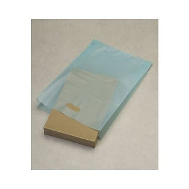 14in. x 3in. x 21in. Frosted High Density Merchandise Bags, Turquoise