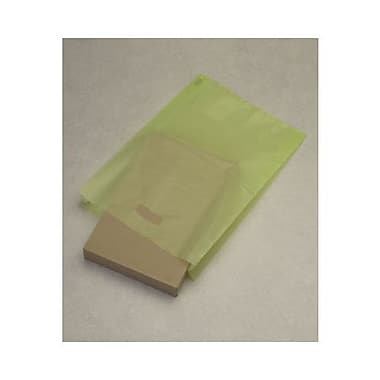14in. x 3in. x 21in. Frosted High Density Merchandise Bags, Lime Green