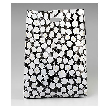 Martine Frosted High Density Merchandise Bags, Black/White, 500/Pack
