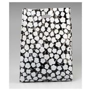 Martine Frosted High Density Merchandise Bags, Black/White