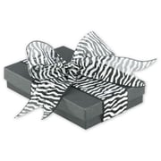 "1 1/2"" x 25 yds. Sheer Zebra Ribbon, Black"